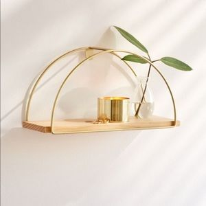 Urban Outfitters Half Circle Wooden Shelf